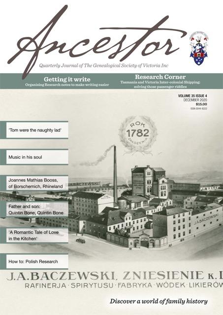 Ancestor September 2020 cover