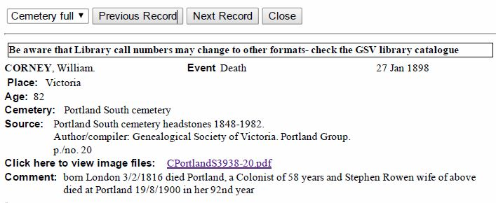 cemetery index example