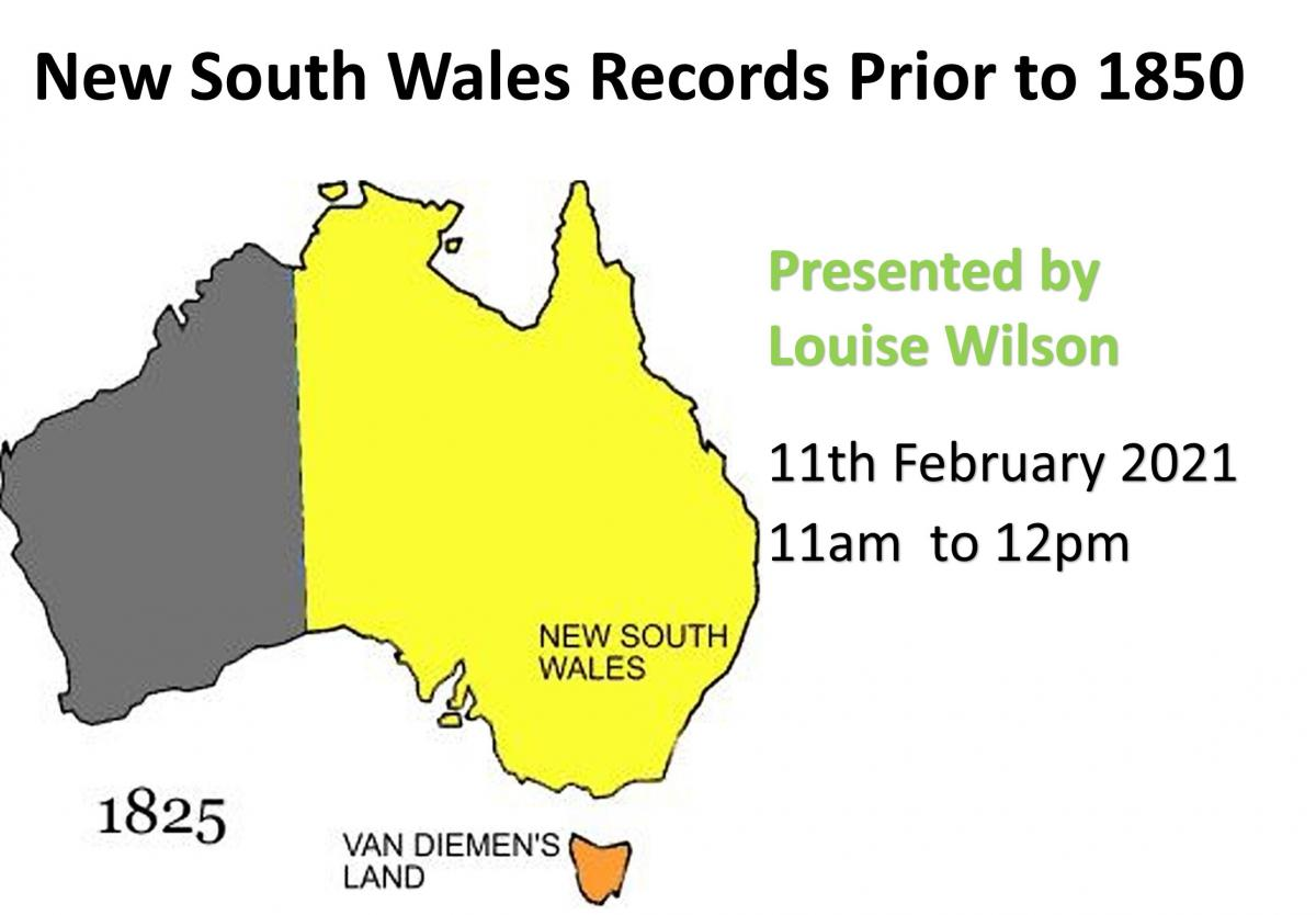 NSW records prior to 1850