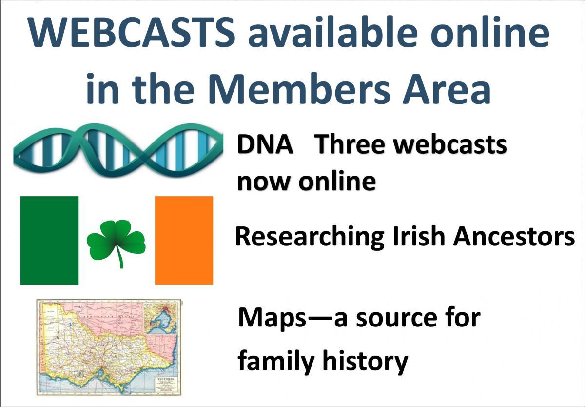 Webcasts DNA Irish Maps