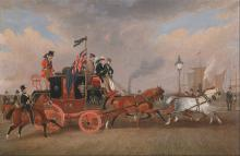 The Last of the Mail Coaches at Newcastle upon Tyne (1848) by James Pollard (1792-1867)