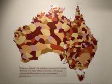 Wall map, Museum of Australia (photo: L. Wilson)