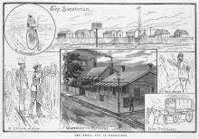 Smallpox in Melbourne, 'Illustrated Australian News' 3 Sept 1884 (SLV Access IAN03/09/84/133)